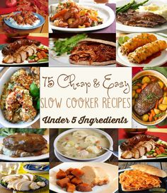It's time to dust off your slow cooker! Here are some of my favorite easy and affordable slow cooker dinner recipes. These recipes are 5 ingredients or less!