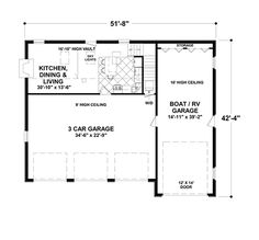 Craftsman Style House Plan - 2 Beds 1 Baths 1207 Sq/Ft Plan #56-617 Floor Plan - Main Floor Plan - Houseplans.com