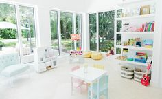 In the Playroom with Fashionable Hostess