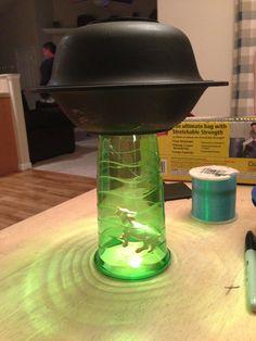 Dollar Store DIY: UFO Lamp