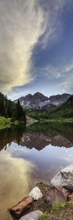 Panoramic Maroon Lake, Aspen Colorado USA