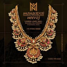 Exquisite craftsmanship from Mangatrai Neeraj! For Queries, WhatsApp us on Bridal Jewellery Inspiration, Bridal Jewelry, Gold Jewelry, India Jewelry, Diamond Jewellery, Bridal Necklace, Pearl Jewelry, Jewelery, South Indian Bride Jewellery