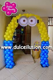 Resultado de imagen para decoracion fiesta infantil mi villano favorito Minions Birthday Theme, Minion Theme, Minion Party, Baby Boy Birthday, 4th Birthday Parties, Birthday Party Decorations, 2nd Birthday, Baby Gender Reveal Party, Balloon Decorations
