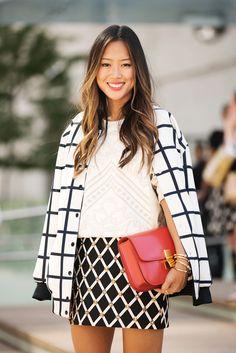 Combine diferentes estampas para criar um look cheio de estilo!