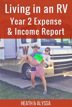 Year 2 Living in an RV Expenses and Income Report