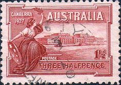 Australia 1927 SG 105 Canbera Fine Used SG 105 Scott 94 Other Ustralian Stamps Here