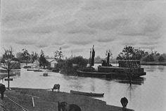 Richmond River in flood at Coraki ~ 1906