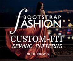 Bootstrap Fashion - custom fit patterns San Mateo, CA Card Patterns, Dress Sewing Patterns, Sewing Patterns Free, Sewing Tools, Sewing Hacks, Sewing Tutorials, Pattern Cutting, Pattern Making, Dart Manipulation