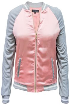 Faux Silk Flight Jacket