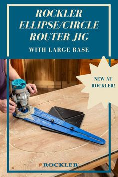 New at Rockler--create perfect circles, ellipses and sweeping arcs with your plunge router! This jig includes a large base for a greater range of shapes. Let our Rockler Innovations help you create with confidence in all of your future projects.  #createwithconfidence #ellipse #circlejig #routerjig #rocklerinnovations Rockler Woodworking, Woodworking Shop, Plunge Router, Router Jig, Wood Carving Tools, A Perfect Circle, Weekend Projects, Carpentry