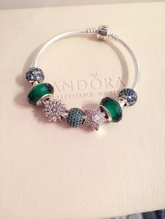50% OFF!!! $199 Pandora Charm Bracelet Green. Hot Sale!!! SKU: CB02006 - PANDORA Bracelet Ideas
