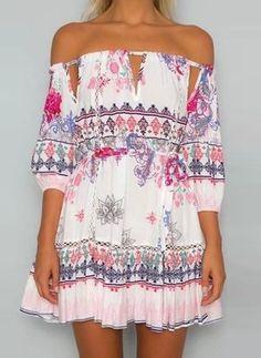Long Sleeve Shift Dress - Floryday @ floryday.com