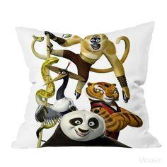 Kungfu Panda cute bear Pillow Cases
