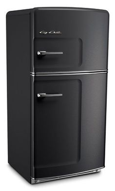 Black Retro Studio Range Refrigerator. Words cannot explain how much this fridge from Big Chill will look in a modern, minimalistic kitchen. Inspired? Get your Big Chill kitchen today.