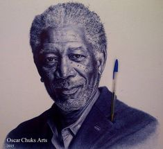 Biro Art, Ballpoint Pen Art, Ballpoint Pen Drawing, Biro Portrait, Art Sketches, Art Drawings, Sun Ken Rock, Black And White Artwork, Creative Artwork