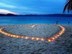 decoração casamento na praia velas - Pesquisa Google