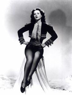 Hedy Lamarr poses in a matador jacket