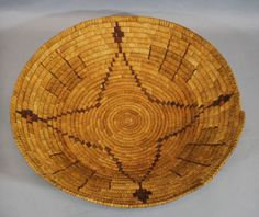 Large-16-1-4in-Antique-Western-Native-American-Southwest-Indian-Basket-NR