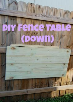 DIY Fence Table   SensiblySara.com