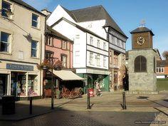 Town square on Bridge Street, Llanrwst (location of the Farmers' Market)