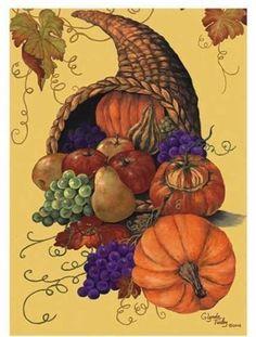 Cornucopia Thanksgiving Garden Flag by DDF. $5.99