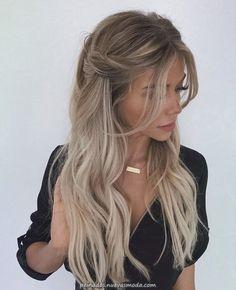 Trendy Braided Hairstyles For Long Hair Looks Fantastic Hairstyles . Braids For Long Hair, Curled Hair With Braid, Curled Hair Prom, Long Ponytails, Curly Hair For Prom, Braids And Curls, Blonde Braids, Curly Ponytail, Side Braids