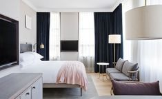 11 Howard, latest contemporary luxury hotel opens in SoHo, New York - CPP-LUXURY Copenhagen Hotel, Space Copenhagen, Design Hotel, 11 Howard Hotel, Hotel Interiors, A Boutique, Soho, Room Interior, Living Room Designs