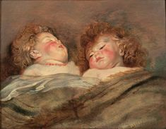 """Peter Paul Rubens """"Two Sleeping Children"""" 1612 (National Museum of Western Art, Tokyo, Japan)"""