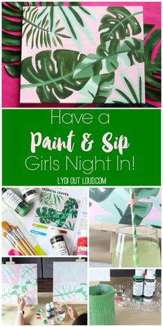 Social Artworking Paint and Sip Party | Girls Night Paint Party