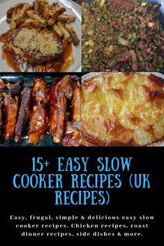 Easy slow cooker recipes (UK recipes) – Katykicker – Famous Last Words Slow Cooker Recipes Uk, Uk Recipes, Healthy Slow Cooker, Budget Recipes, Crockpot Recipes, Easy Recipes, British Recipes, Delicious Recipes, Recipies