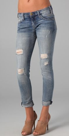 Distressed denim is the only denim