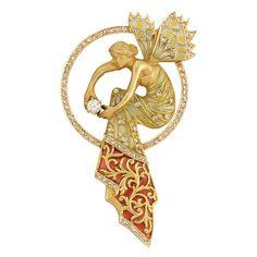 masriera art nouveau jewelry   Lot 270 – Art Nouveau Gold, Diamond and Plique-a-Jour Enamel Pendant ...