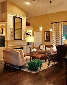 48 Best Of Cozy Living Room Decor Yellow Ideas . 43 Cozy and Warm Color Schemes for Your Living Room Cozy Living Rooms, New Living Room, Home And Living, Living Room Furniture, Brown Furniture, Apartment Living, Small Living, Cozy Apartment, Modern Living