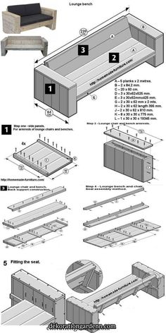 Scaffolding furniture, homemade tables and chairs construction drawings. Scaffolding furniture, homemade tables and chairs construction drawings. Outdoor Furniture Plans, Diy Garden Furniture, Homemade Furniture, Furniture Projects, Furniture Decor, Barbie Furniture, Furniture Design, Rustic Furniture, Diy Furniture Renovation