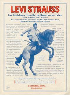 Levi Strauss Spanish Langage Brochure, 1920's