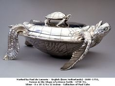 Fabulous tureen in the shape of a green #turtle
