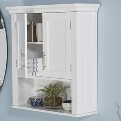 Bathroom Wall Cabinets white cottage style bathroom wall cabinet storage shelf | double
