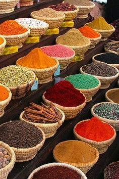The smells of fresh spices, minerals and produce hits your nostrils as soon you enter a Moroccan souk. Beautifully organic and colorful, just the way mother nature intended it.