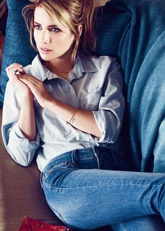 Emma Roberts for the new Levis Fall/Winter campaign.