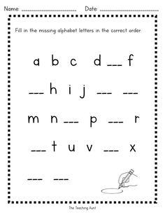 Free Alphabet Worksheets Free Alphabet Worksheets – The Teaching Aunt Free Alphabet Worksheets Free Alphabet Worksheets – The Teaching Aunt Missing Letter Worksheets, Alphabet Writing Worksheets, Letter Flashcards, Letter Worksheets For Preschool, Free Preschool, Kindergarten Worksheets, Kindergarten Colors, Preschool Alphabet, Numbers Preschool