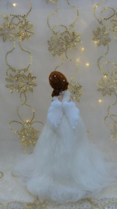 Christmas angel Fair Needle felted with Lights Waldorf doll