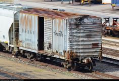 High quality photograph of Denver & Rio Grande Western Railroad Boxcar # DRGW 69035 at Denver, Colorado, USA. New York Central Railroad, Ho Model Trains, Railroad History, Railroad Photography, Rail Car, Train Pictures, Rolling Stock, Fire Dept, Train Tracks