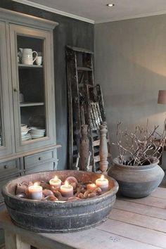 Einblick in die Wohnküche Styling & Living, Estilo Cottage, Estilo Interior, Vibeke Design, Home And Deco, Wabi Sabi, Rustic Interiors, Home And Living, Sober Living, Living Room