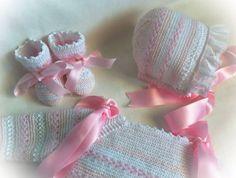 Modelo rosa y blanco  de Canastilla Artesanal