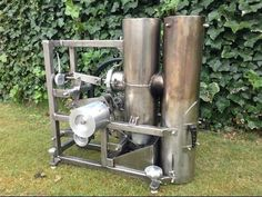Stirling engine heissluftmotor / Home made hot air engine of stainless-steel Greenhouse Cover, Large Greenhouse, Home Greenhouse, Diy Generator, Homemade Generator, Stirling Engine, Energy Projects, Alternative Energy, Just In Case