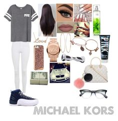 """""""💎💎"""" by jazzy0725 ❤ liked on Polyvore featuring Topshop, Victoria's Secret PINK, Lana, Alex and Ani, Michael Kors, MICHAEL Michael Kors, Retrò and Oliver Peoples"""