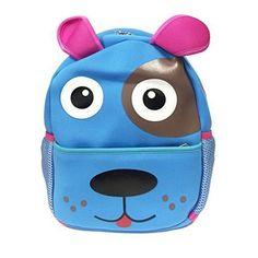 Wrapables Neoprene Fun Pals Backpack for Toddlers Light Blue Dog * Visit the image link more details. Dog Backpack, Toddler Backpack, Blue Dog, Cool Backpacks, School Bags, Luggage Bags, School Supplies, Light Blue, Preschool