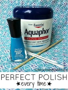 Perfect Polish every Time! The polish won't stick to wherever the lotion is.Use the cuticle stick to wipe away the extra.