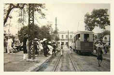 HANOI 1952 - tramway - Bến xe điện Bờ Hồ | tàu điện HN | manhhai | Flickr Colonial, Vietnam History, Hanoi, Street View, Event Posters