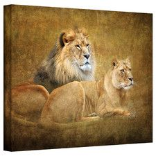 'Lions' Graphic Art on Canvas